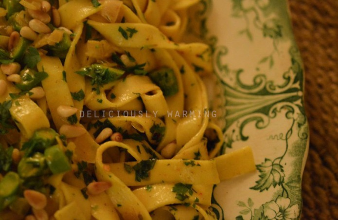Spiced Butter Fettuccine