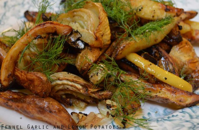 Fennel, garlic and lemon love potatoes!