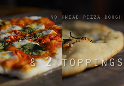 No Knead Pizza Dough & 2 Very Simple Toppings – The ...